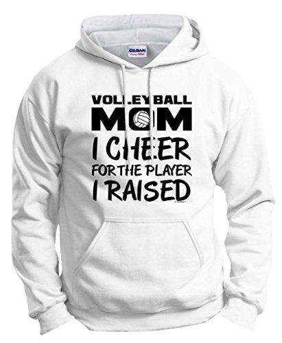 Volleyball Player Raised Hoodie Sweatshirt
