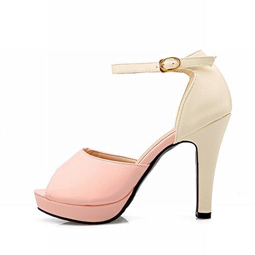 Sandales Cheville Boucle De Haut De Talon Mee Chic Et Sangle Femmes Chaussures Rose AwqRZ