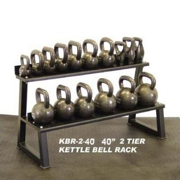 Ader Premier Kettlebell Set w/DVD & Rack- (4, 6, 8, 10, 12, 16, 20, 24kg) Pairs by Ader Sporting Goods