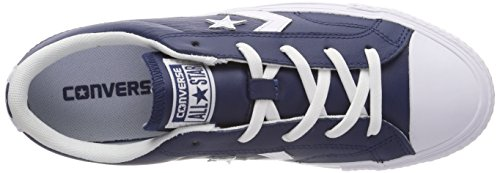 Converse Mens Star Player Ox Trainers, Blu Navy Bianco