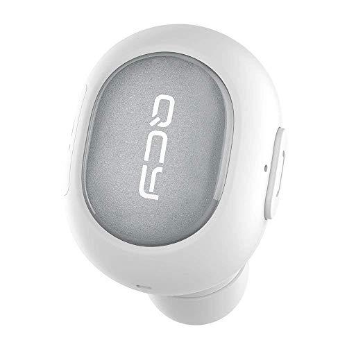 Audifono Bluetooth QCY Q26PRO; Nueva Version con Mejor Bateria y Microfono para usarlo como Manos Libres (Blanco)