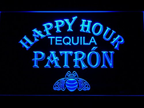 Patron Tequila Happy Hour Bar LED Neon Light Sign Man Cave 633-B