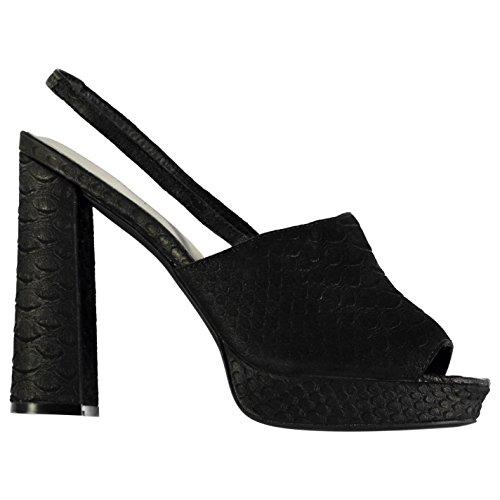 Jeffrey Campbell Chika Crocodile High Heels Shoes Womens Black Fashion Footwear Nlc4kN3tTl