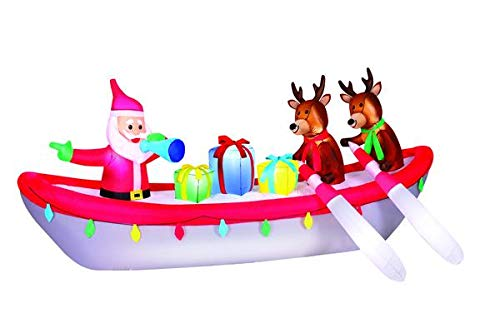 Occasions 10' Airblown Row Boat Santa Christmas Inflatable by Occasions