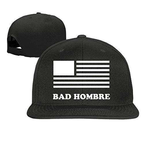 Bad Hombre Unisex Adjustment Baseball Hip Hop Cap Hat Black (5 colors)