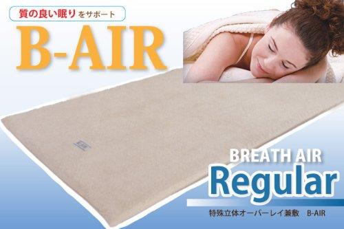 【B-AIR】ブレスエアー[Regular-レギュラー]特殊立体オーバーレイ兼敷【シングルロング】 B0088MCN7A