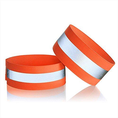 Wuudi 1Paar Reflektierende Armband, Sport Supply Outdoor Sportarmband Armband Professional Fluoreszierende Armbinden