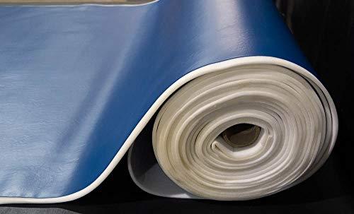 1/4'' Foam Backed Marine Vinyl Upholstery Fabric Dark Blue 54'' Wide by 5 Yards Boat Auto by Bry-Tech Marine1 (Image #2)
