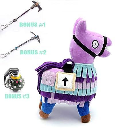 Amazon Com H R Fortnite Loot Llama Plush Model Rainbow Horse Toy