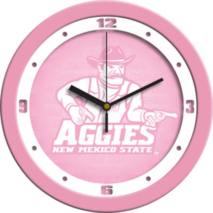 """SunTime New Mexico State Aggies 12"""" Pink Wall Clock"""