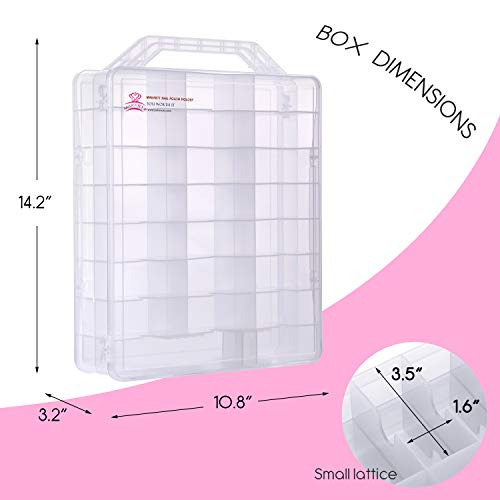 Makartt Universal Clear Nail Polish Organizer Holder for 48 Bottles Adjustable Dividers Space Saver