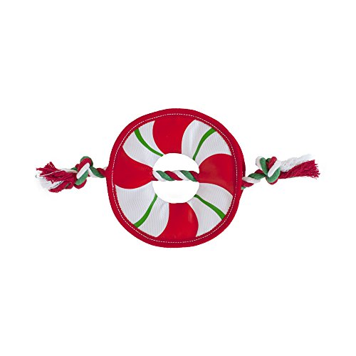 Kyjen Ropes (Outward Hound Rope Wreath Fire Biterz Tough Fire Hose Material Christmas Dog Toy)