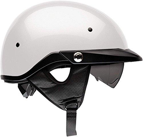 Bell Pit Boss Open-Face Motorcycle Helmet (Solid Pearl White, (Pearl White Bike Helmet)
