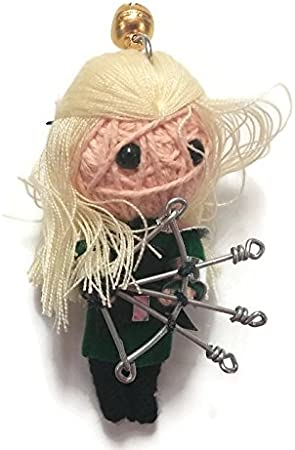 Ariel The Little Mermaid Handmade Textile String Doll Voodoo Keychain Keyring