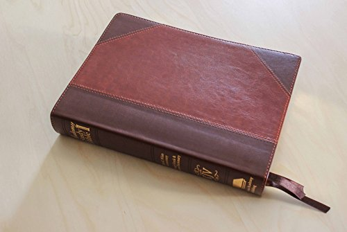 The Academy Study Bible KJV Ellen G. White Bible Commentary & Concordance & Strong's Hebrew and Greek Dictionary (Two-tone Brown Leather) (Large - Brown Leather Tone