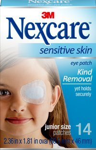 Nexcare Hypoallergenic Eye Patch (Nexcare Sensitive Skin Junior Size Eye Patches, 14ct (Pack of)