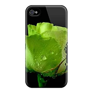 Faddish Phone Nature Flowers Green Rose 03 Case For Iphone 4/4s / Perfect Case Cover