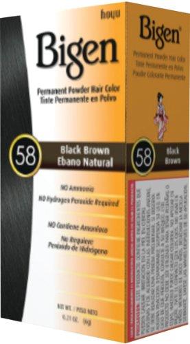 Bigen Hair Color - #58 - Black Brown Kit (Pack of 6)