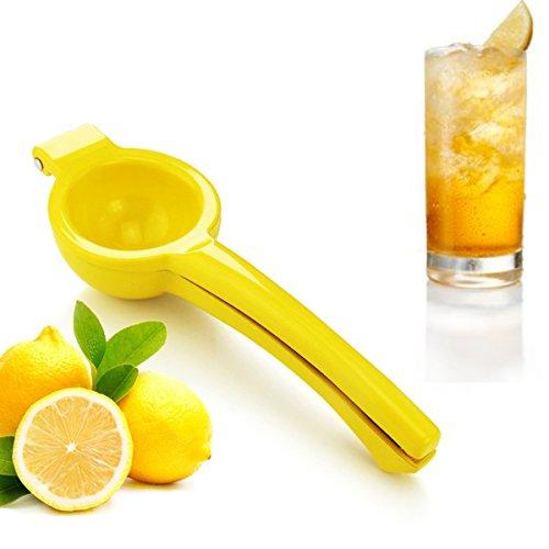 Uniware Heavy Duty Enameled Cast Aluminum Lemon Juicer, Lime Squeezer, Dia 3 Inch, Yellow (Best Citrus Juicer India)