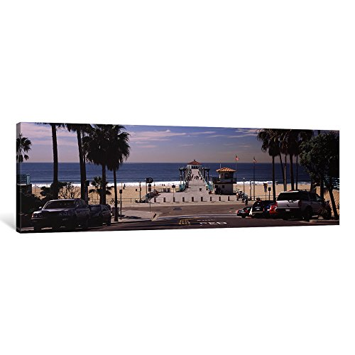 iCanvasART 1 Piece Pier over an Ocean, Manhattan Beach Pier, Manhattan Beach, Los Angeles County, California, USA Canvas Print by Panoramic Images, 1.5 by 48 by - Manhattan Usa Beach California