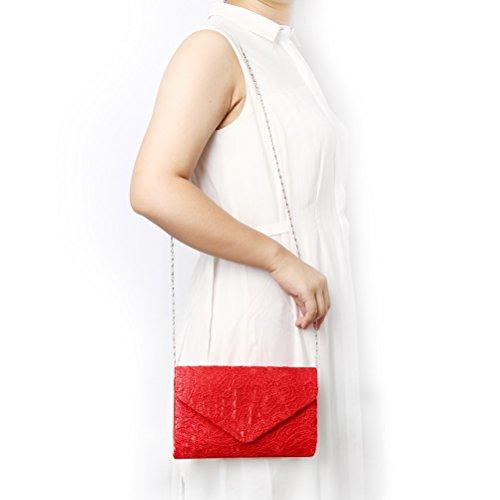 SUMAJU - Cartera de mano para mujer Rojo Red Red