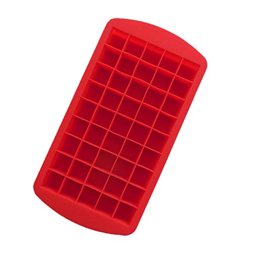 Ice Cube Tray,Ice Cube Mould,Fheaven Ice Cube Trays MoldsCavities Ice Tray for Whiskey Jelly Cocktail (45, Red) -
