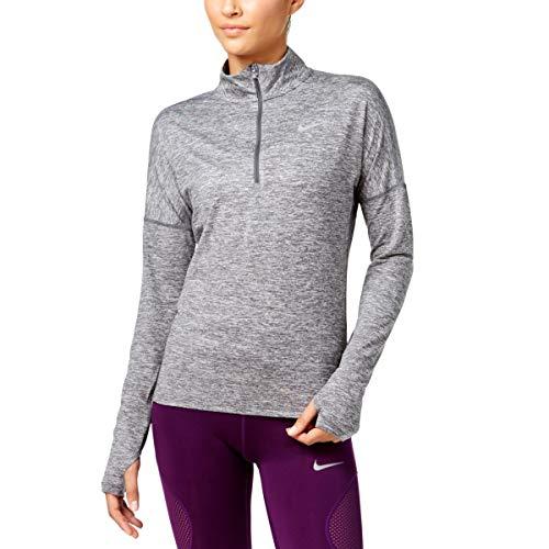 Nike Womens Element Running Workout 1/4 Zip Pullover Gray M