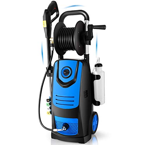 Suyncll-3800-PSI-28GPM-Electric-Pressure-Washer-Electric-Power-Washer-with-Soap-Bottle-and-Hose-Reel-Blue