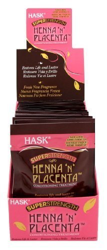 Hask Placenta & Henna Packettes 2 oz. (Pack of 12) Super Strength