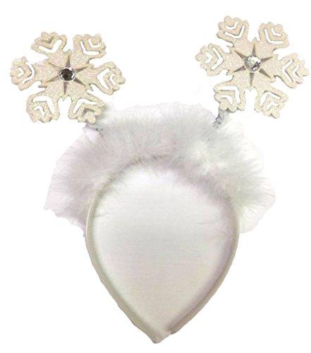 Winter Wonderland Costume (Christmas Snow Flake Headband with Faux Jewels - Winter)