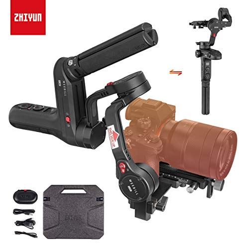 Zhiyun WEEBILL LAB 3-Axis Gimbal for Mirrorless and DSLR Cameras Like Sony A6300 A6500 A7 GH5, Wireless Image Transmission, ViaTouch Control (Standard Package 2019 New) (Best Mirrorless Camera 2019 Under 1000)