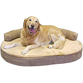 Integrity Bedding Integrity Orthopedic Memory Foam Joint Relief Bolster Dog Bed (MED - XL) Toffee Large