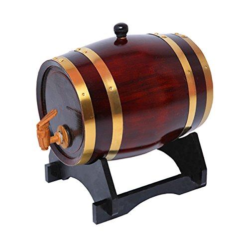 Amazon.com: Oak barrels 1.5L Wooden Barrel for storage or aging wine & spirits Vintage Style Tabletop Wine Dispenser Barware Wine Accessory Sets Wine ...