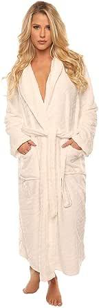 Velvet Kitten Luxurious Women's Long Sleeve Ultra-Soft Plush Polyester Robe 3360