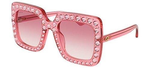 Gucci GG 0148 S- 003 PINK (Pink Gucci Sunglasses)