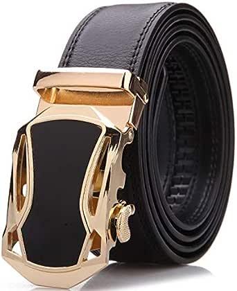 حزام جلد ذهبي -رجال