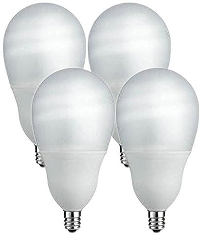 Philips 14W (60W Equivalent) Candelabra Base, CFL Shatter Resistant Light Bulb (4 Bulbs) - Candelabra Compact