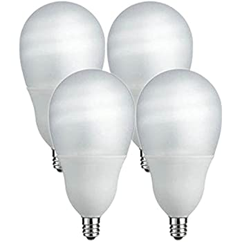 Philips 14W (60W Equivalent) Candelabra Base, CFL Shatter Resistant Light Bulb (4 Bulbs)
