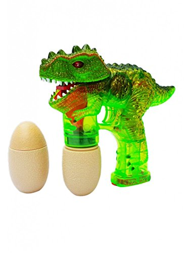 Dinosaur LED Bubble Gun Flashing Light Up Bubbles Blower Jurassic Dino Party Best Selling Prod Glow In The Dark from Unbranded