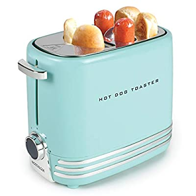 Nostalgia HDT900AQ Two Hot Dog and Buns Pop-Up Toaster Aqua