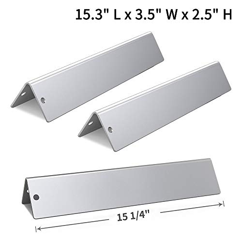 SHINESTAR 15.3 inch Flavorizer Bar Replacement for Weber Spirit 200/210/220/E-210/S-210(2013 & Newer with Up Front Controls Panels), 15.3