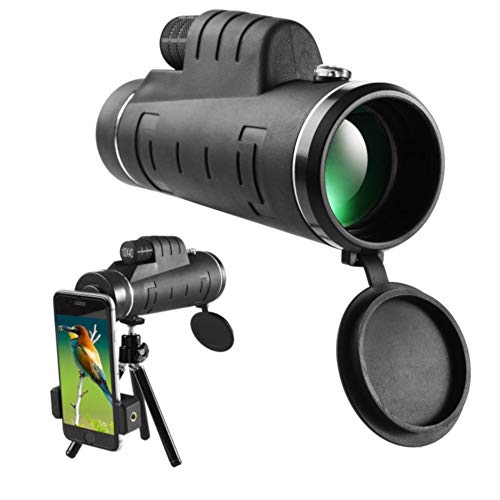 Monocular Telescope 10X40 High Power Monocular Telescope for Smartphone with Adaptor and Tripod – Monoculars for Adults Monocular Scope for Bird Watching, Hiking, Hunting, Camping, Wildlife