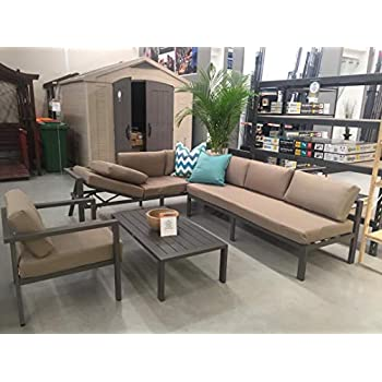 Amazon.com: modway Fortuna 10 piezas Patio Seccional sofá ...