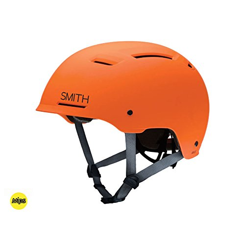 Smith Axle MIPS All Mountain Bike Helmet - Matte Neon Orange Small by Smith Optics