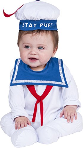 Rubie's Baby Ghostbusters Classic Stay Puft Costume Romper, As As Shown, 0-6 Months -