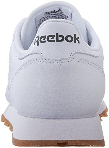 Reebok Menns Klassiske Skinn Sko For Turgåing Oss-hvit / Tyggis