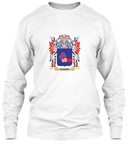 (Garbo Coat of. L - White Long Sleeve Tshirt - Gildan 6.1oz Long Sleeve)
