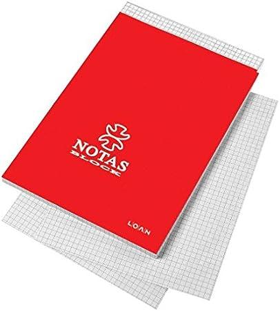 Cuaderno Notas Encolado LOAN, 16º 80H Cuadriculado, Pack x10: Amazon.es: Oficina y papelería