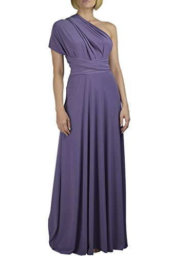 Von Vonni Infinity/Transformer/Convertible Maxi Dress (Lavender-Purple)