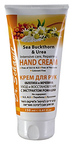 - Dr. Schavit Sea Buckthorn & Urea Hand Cream Intensive Care, Repairing With Chamomile Extract Free of SLS, Free of ALS, Free of Parabens, Free of Colorants